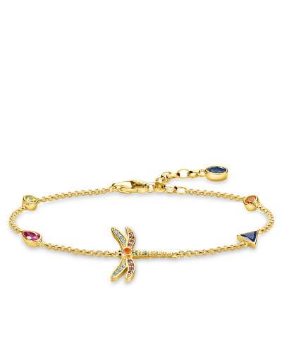 """Armband """"Libelle"""", Sterlingsilber Gelbgold vergoldet, Glam & Soul"""