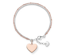 Damen Armband mit Gravur, Sterlingsilber, Love Bridge