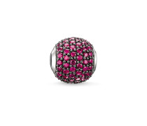 Damen Bead Roter Fluss, Sterlingsilber, Karma Beads