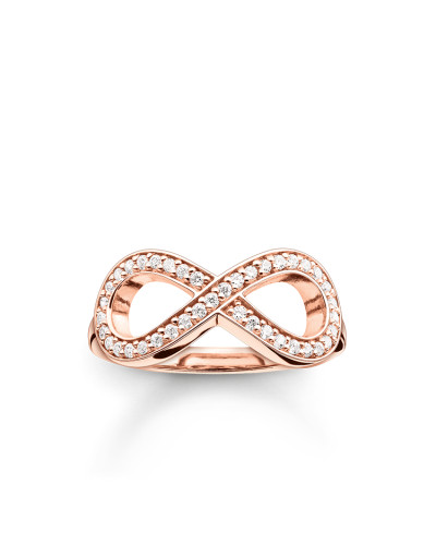 """Ring """"Infinity"""", Sterlingsilber Roségold vergoldet, Glam & Soul"""