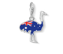 "Damen Charm-Anhänger ""Emu Australien"", Sterlingsilber,"