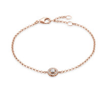 Damen Armband, Sterlingsilber Roségold vergoldet, Rebel at heart