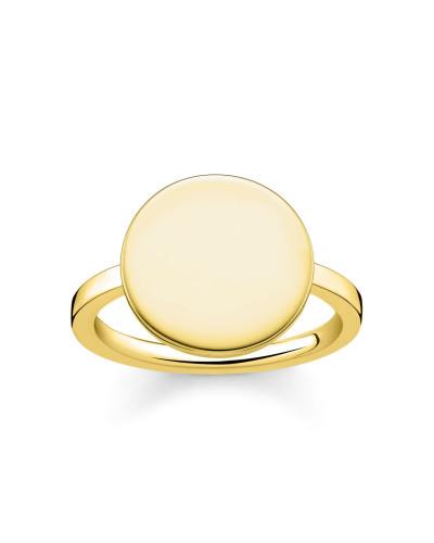 Ring mit Gravur, Sterlingsilber Gelbgold vergoldet, Love Bridge