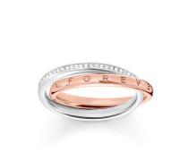 Damen Ring, Roségold 9k, Glam & Soul