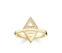 Damen Ring, Sterlingsilber Gelbgold vergoldet, Glam & Soul