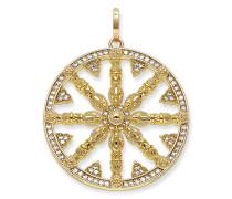 Anhänger, Sterlingsilber Gelbgold vergoldet, Karma Beads