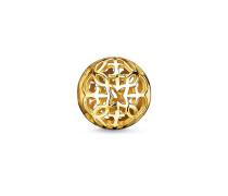 """Damen Bead """"Ornament"""", Sterlingsilber Gelbgold vergoldet, Karma Beads"""