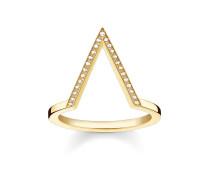 Ring, Sterlingsilber Gelbgold vergoldet, Glam & Soul