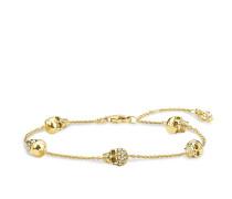 Damen Armband, Sterlingsilber Gelbgold vergoldet, Rebel at heart