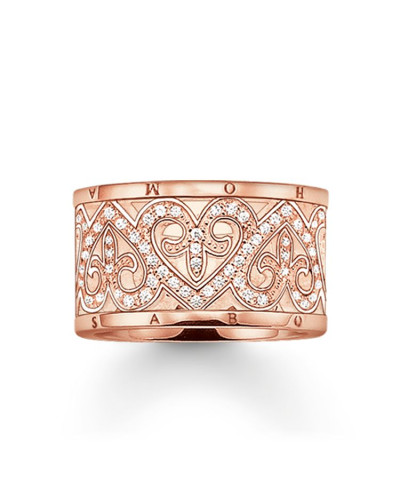 Damen Ring, Sterlingsilber Roségold vergoldet, Glam & Soul