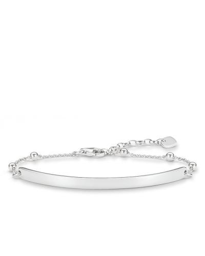 Damen Armband mit Gravur, Sterlingsilber, Love Bridge