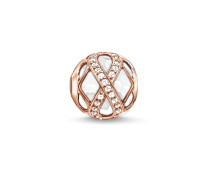 """Damen Bead """"Infinity"""", Sterlingsilber Roségold vergoldet, Karma Beads"""