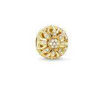 Damen Bead Sonnenschein, Sterlingsilber Gelbgold vergoldet, Karma Beads
