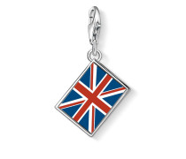 Damen Charm Brit Flagge, Sterlingsilber,