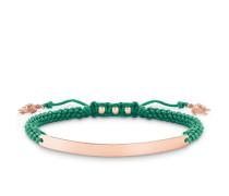 Damen Armband mit Gravur, Sterlingsilber Roségold vergoldet, Love Bridge