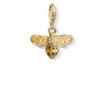 "Damen Charm-Anhänger ""Biene"", Sterlingsilber Gelbgold vergoldet,"