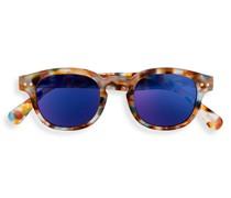 Junior SUN #C Blue Tortoise Blue Mirror Lenses +0.