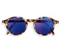 Junior SUN #D Blue Tortoise Blue Mirror Lenses +0.