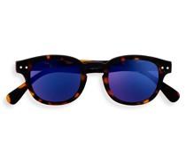 Junior SUN #C Tortoise Blue Mirror Lenses +0.00