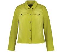 Jeansjacke in frischem Limetten-Gelb
