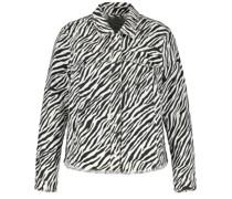 Jeansjacke in Zebra-Muster
