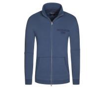 Strickjacke, Logo Track, Regular Fit in Blau für Herren