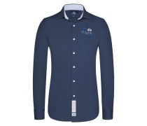 Casualhemd, Slim Fit in Marine für Herren