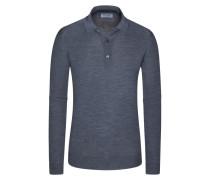 Pullover mit Polokragen, Belper, 100% Schurwolle in Grau