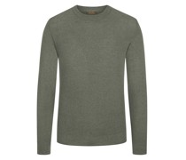 Leichter Pullover aus Merinowolle Oliv