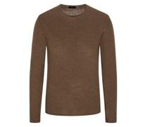 Leichter Pullover mit Rollkante, 100% Merinowolle