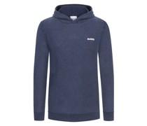 Leichter Pullover mit KapuzeWashed-Look Marine