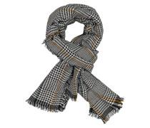 Schal mit modischem Muster in Schwarz
