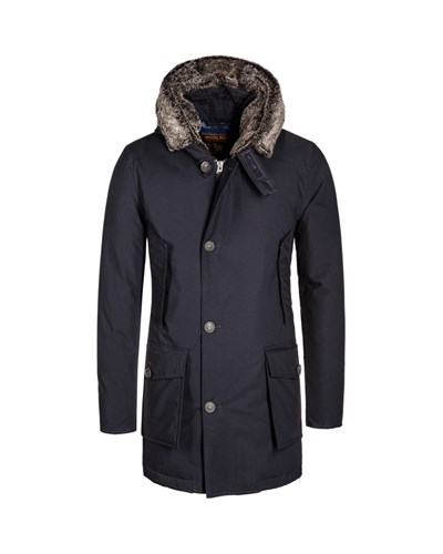 woolrich herren daunenjacke shearling arctic parka blau. Black Bedroom Furniture Sets. Home Design Ideas