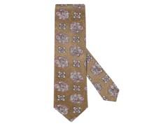 Krawatte im Paisley-Print Oliv