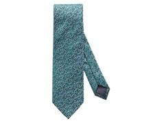 Krawatte mit Rosen-Struktur Gruen
