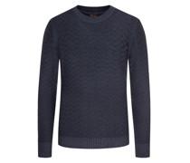 Pullover mit Musterstrick Marine