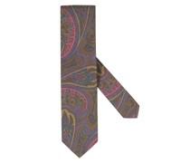 Krawatte im Paisley-Muster Oliv