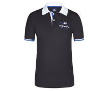 Poloshirt, Slim Fit in Schwarz für Herren