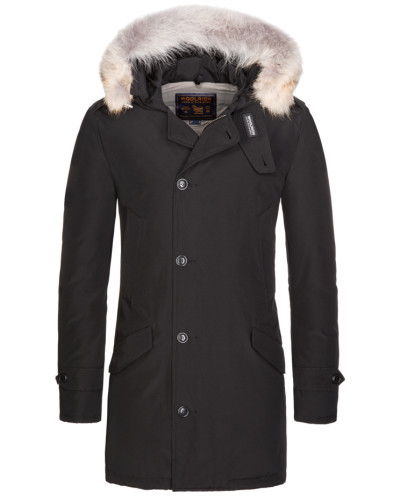woolrich herren daunenjacke polar parka in schwarz f r. Black Bedroom Furniture Sets. Home Design Ideas