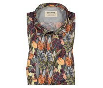 Hemd mit All-Over-Print, Shaped Fit