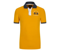 Poloshirt mit Stretchanteil, Slim Fit in Gelb