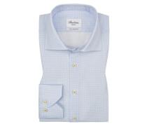 Oberhemd, extra langer Arm, Slim Fit in Blau für Herren