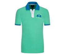 Poloshirt mit Stretchanteil, Slim Fit in Mint