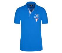Poloshirt, Slim Fit in Blau für Herren