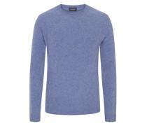 Pullover mit Ellenbogenpatches, 100% Kaschmir Denim