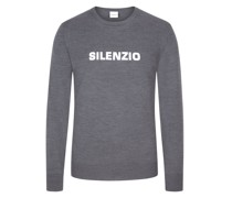 Leichter Wollpullover Sweatshirt-Optik Anthrazit