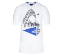T-Shirt, O-Neck in Weiss für Herren