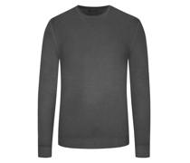 Leichter Wollpullover hochwertiger Merino-Qualität, Vintage-Optik Anthrazit