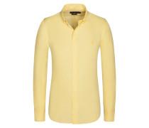 Freizeithemd, Slim Fit in Gelb für Herren