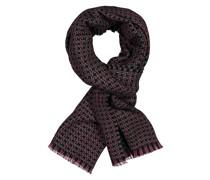 Schal mit modischem Muster aus reiner Wolle Marine